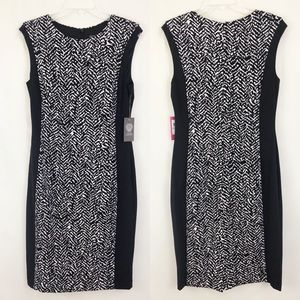 Vince Camuto Black Illusion Sheath Career Dress 8